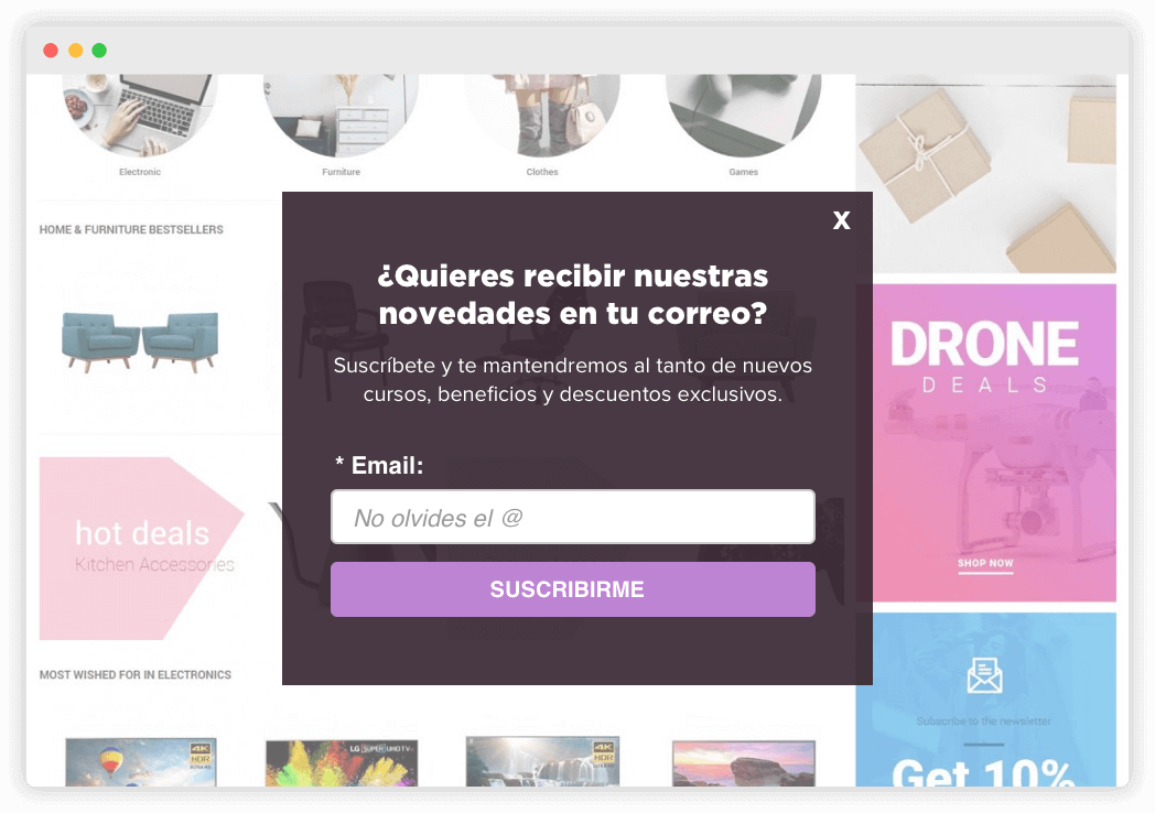 Formulario Pop-up para Email Marketing