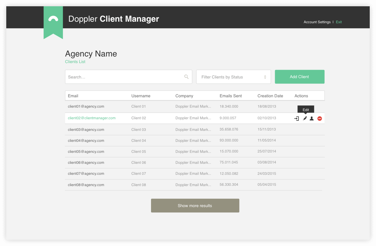 Doppler Client Manager: Multiples users admin