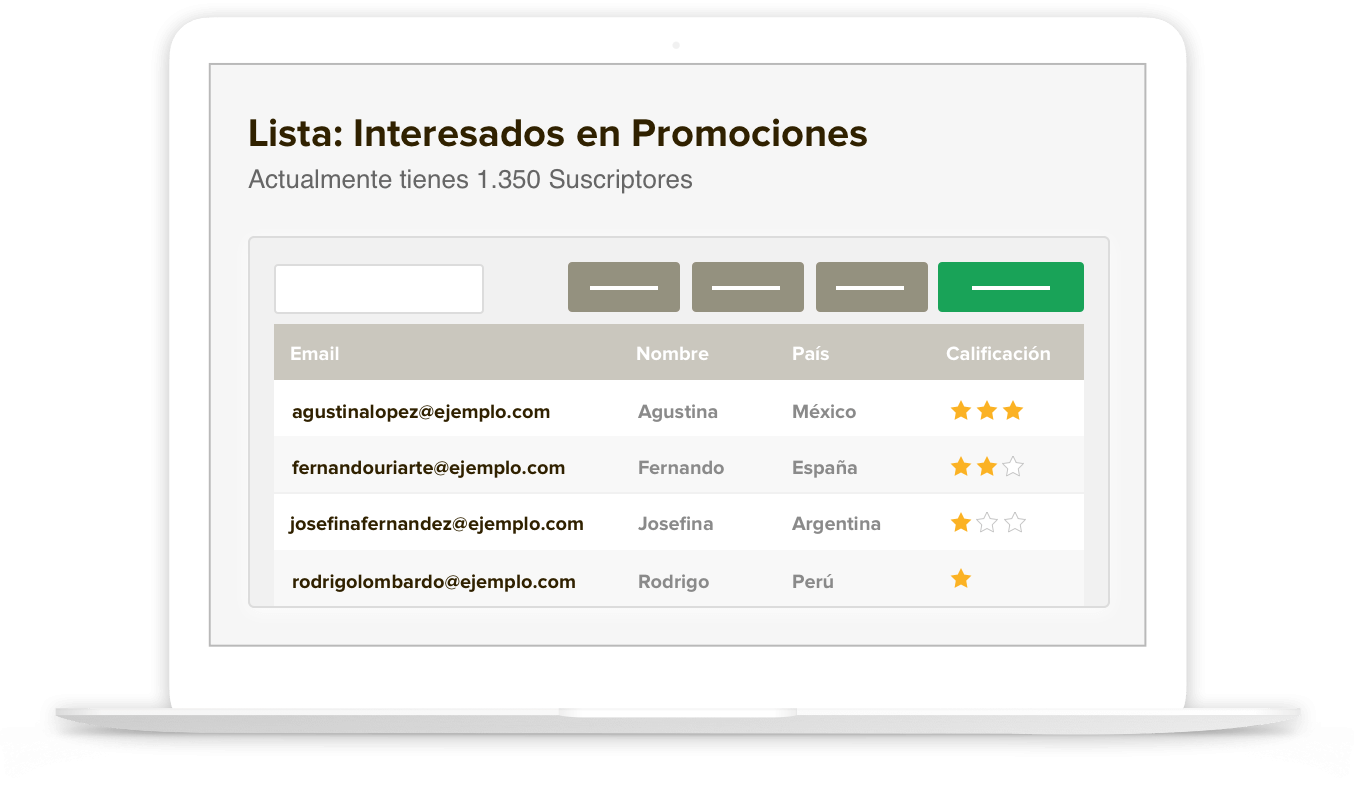 Listas de Contactos para Email Marketing